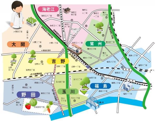 所属歯科医院マップ検索|大阪市福島区歯科医師会ホームページ
